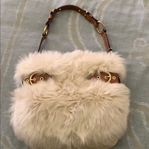 COACH LIMITED EDITION SUEDE SHEARLING FUR BAG 🌹
